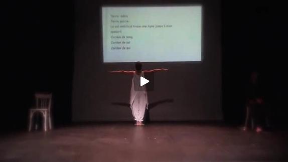"Vidéo ""Lignes"" de E. Briceno, m.e.s. Isabel Patinha (Isabel B.) , extraits"