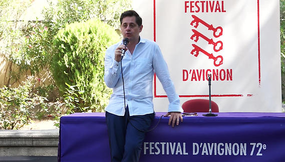Image du spectacle Conférence de presse de clôture du 72e Festival d'Avignon
