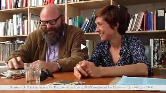 """Vidéo """"Les Estivants"""" de M. Gorki, m.e.s. tg STAN, entretien avec D. De Schrijver et S"""