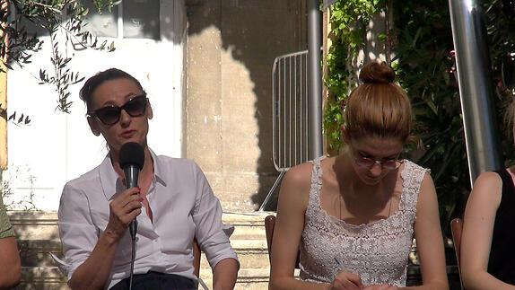 """Vidéo """"¿Qué haré yo con esta espada?"""", dialogue artistes-spectateurs"""