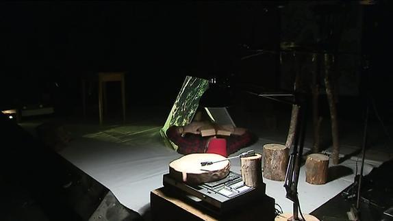 """Image du spectacle """"Une forêt en bois...construire"""" - Estelle Charles/Fred Parison - Reportage"""