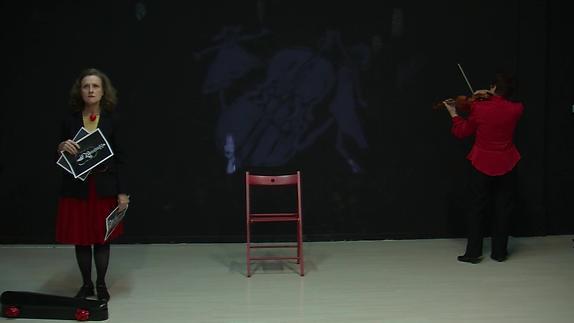 """Vidéo """"Improbable duo pour un violon"""" - Extraits"""