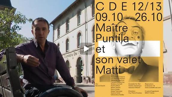 """Vidéo """"Maître Puntila et son valet Matti"""", entretien avec G. P. Couleau"""