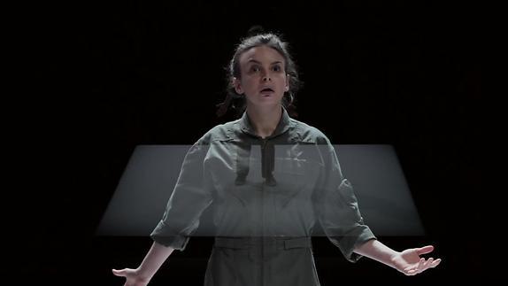"Image du spectacle ""Clouée au sol"" - George Brant / Gilles David - Teaser"