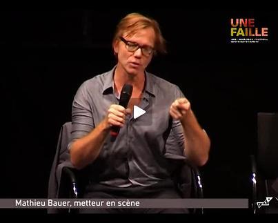 """Vidéo """"Une Faille / Saison 1 : Haut-Bas-Fragile"""", présentation par M. Bauer"""