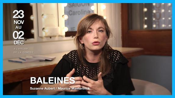 """Vidéo """"Baleines"""" - Présentation par Suzanne Aubert"""