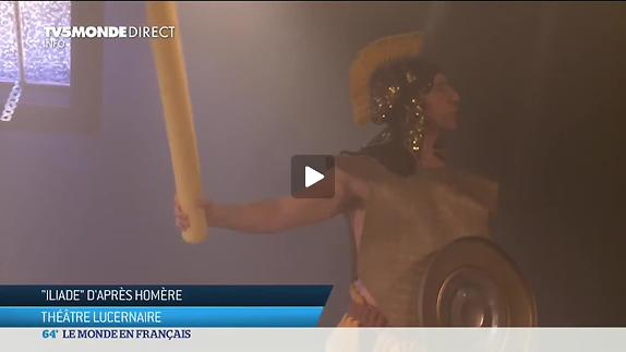 """Vidéo """"Iliade"""", m.e.s. D. Roussineau et A. Perret - Reportage"""