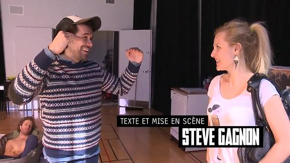 """Vidéo En répétition - """"En dessous de vos corps... """", Steve Gagnon"""