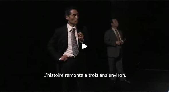 """Vidéo """"Tori no tobu takasa"""", entretien avec O. Hirata, images de répétitions"""