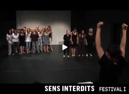 Vidéo Sens Interdits, festival international deThéâtre
