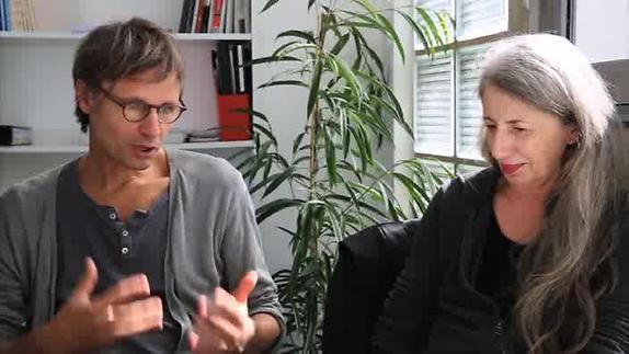"""Vidéo """"Trafic"""" - Présentation du spectacle par D.Jeanneteau et M-C.Soma"""