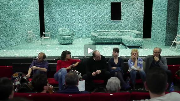 "Vidéo Ionesco, ""La Cantatrice chauve"", m.e.s. P. Pradinas, rencontre avec le public"