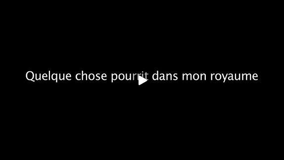 """Vidéo """"Quelque chose pourrit dans mon royaume"""", création dirigée par J. Bérès - ENSATT"""
