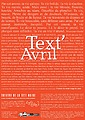 Festival Text'Avril