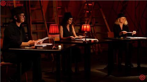 """Théâtre à la table - """"Huis Clos"""" - Jean-Paul Sartre/Anne Kessler (Comédie-française)"""