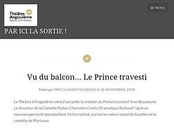 Vu du balcon… Le Prince travesti