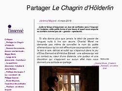 Partager Le Chagrin d'Hölderlin