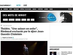 """""""Une saison en enfer"""", Rimbaud enchanté par le djinn Jean-Quentin Châtelain"""