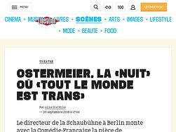 Ostermeier,  la «Nuit» où «tout le monde est trans»
