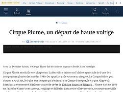 Cirque Plume, un départ de haute voltige