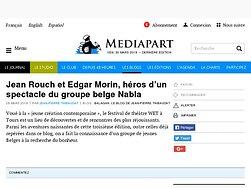 Jean Rouch et Edgar Morin, héros dans un spectacle du groupe belge Nabla