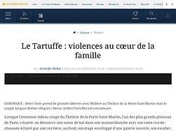 Le Tartuffe : violences au cœur de la famille