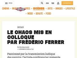 Le chaos mis en colloque par Frédéric Ferrer
