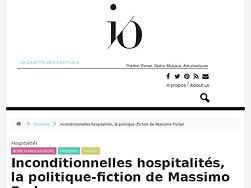 Inconditionnelles hospitalités, la politique-fiction de Massimo Furlan