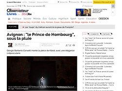 """""""le Prince de Hombourg"""", sous la pluie"""