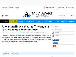 Alexandra Badea et Anne Théron, à la recherche de mères perdues