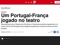 Teatro. Um Portugal-França jogado no teatro