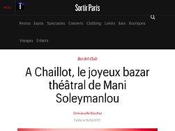 A Chaillot, le joyeux bazar théâtral de Mani Soleymanlou