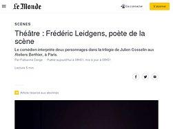 Frédéric Leidgens, poète de la scène