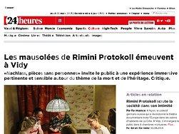 Les mausolées de Rimini Protokoll émeuvent à Vidy