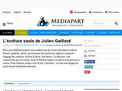 L'écriture saule de Julien Gaillard