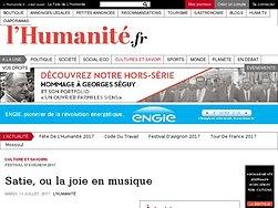 Satie, ou la joie en musique