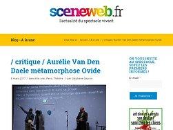 Aurélie Van Den Daele métamorphose Ovide