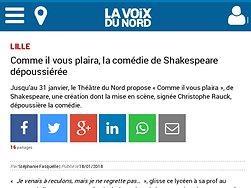 Comme il vous plaira, la comédie de Shakespeare dépoussiérée
