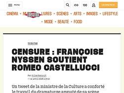 Censure: Françoise Nyssen soutient Romeo Castellucci