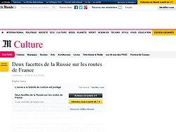 Deux facettes de la Russie sur les routes de France