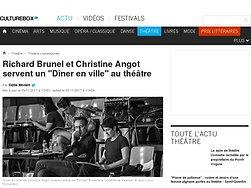 """Richard Brunel et Christine Angot servent un """"Dîner en ville"""" au théâtre"""