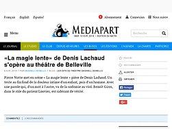 «La magie lente» de Denis Lachaud s'opère au théâtre de Belleville