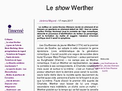 Le show Werther