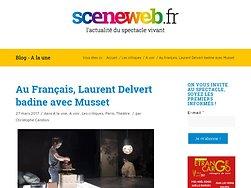 Au Français, Laurent Delvert badine avec Musset