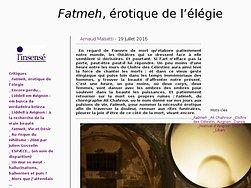 Fatmeh, érotique de l'élégie