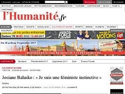 Josiane Balasko: «Je suis une féministe instinctive»