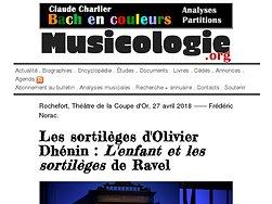 Les sortilèges d'Olivier Dhénin: L'enfant et les sortilèges de Ravel