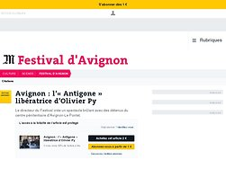 L'«Antigone» libératrice d'Olivier Py
