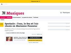 L'eau, le feu et l'air réunis en Marianne Pousseur