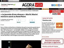 La Journée d'une rêveuse Marilú Marini monstre sacré